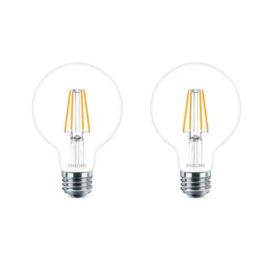 40-Watt Equivalent Daylight G25 Dimmable LED Light Bulb (2-Pack)