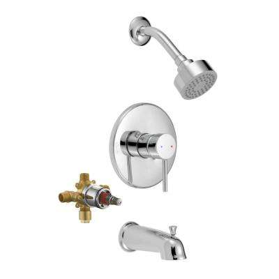 Eastport Single-Handle 1-Spray Tub and Shower Faucet in Polished Chrome (Valve Included)