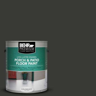 1 gal. #1350 Ultra Pure Black Low-Lustre Interior/Exterior Porch and Patio Floor Paint