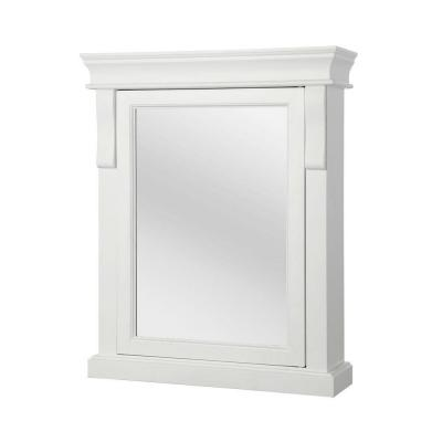 Naples 25 in. W x 31 in. H x 8 in. D Framed Surface-Mount Bathroom Medicine Cabinet in White