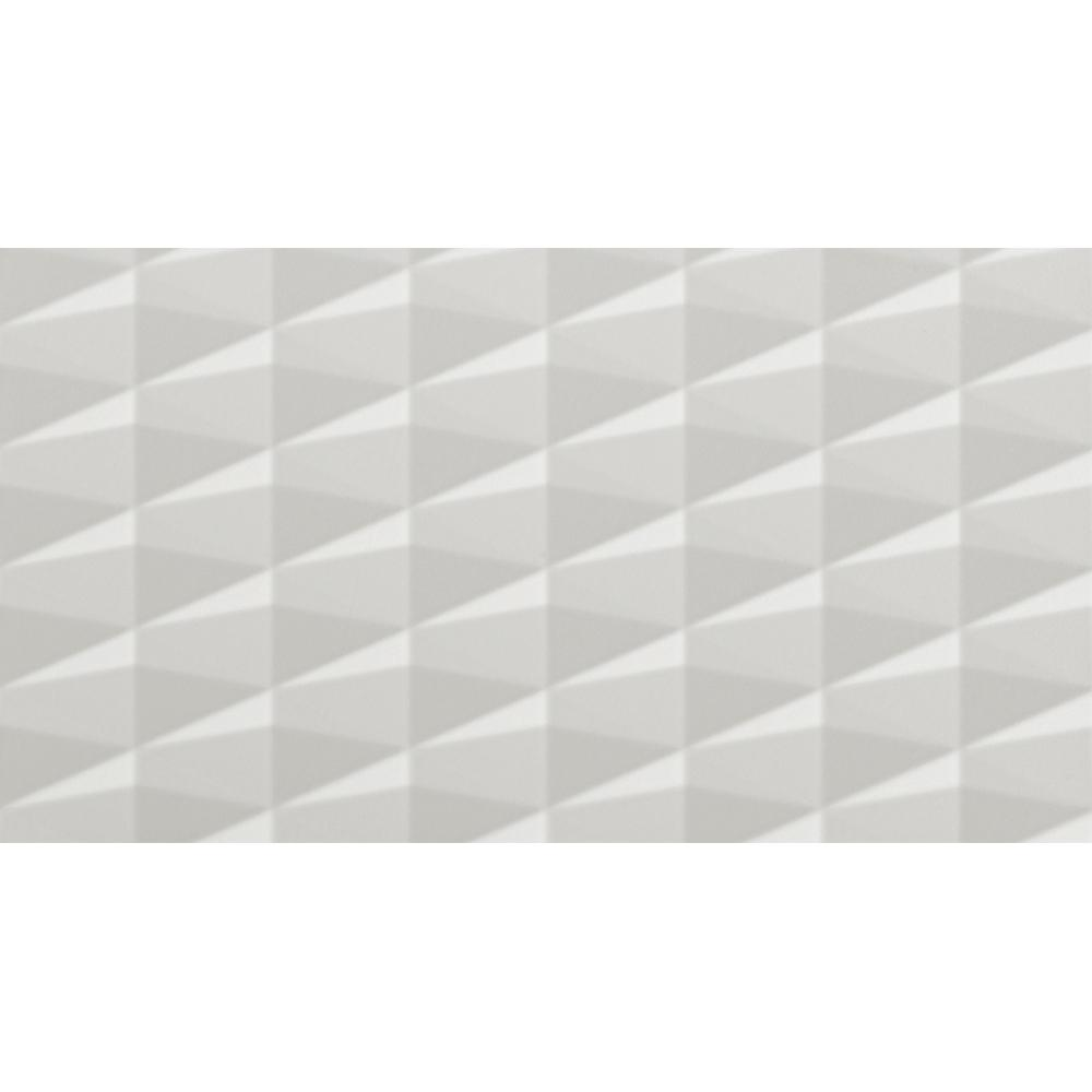 Corso Italia GEMMA White 3D 12 in. x 22 in. Ceramic Wall Tile (12.83 sq. ft. / case)