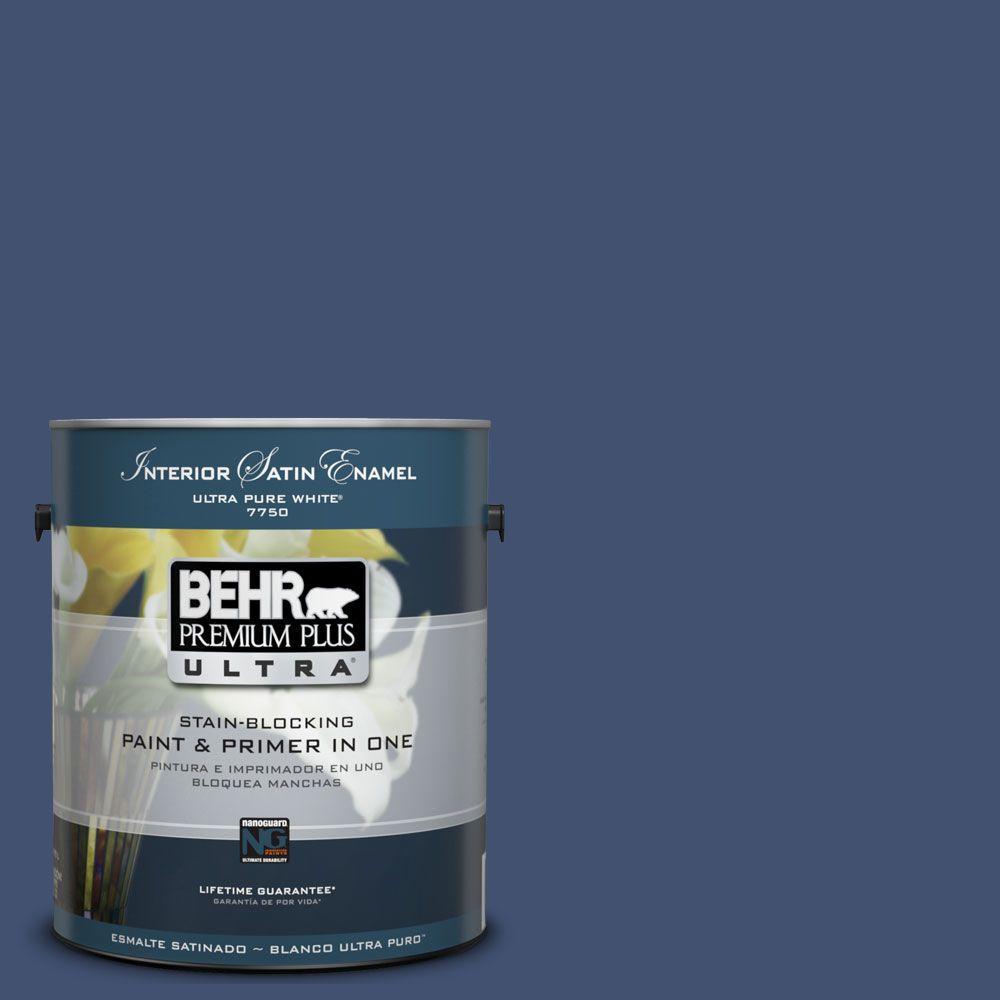 BEHR Premium Plus Ultra 1 Gal. #UL240 22 Signature Blue Interior Satin