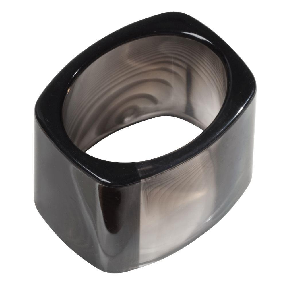 Tor Trois Napkin Ring in Black (Set of 4)