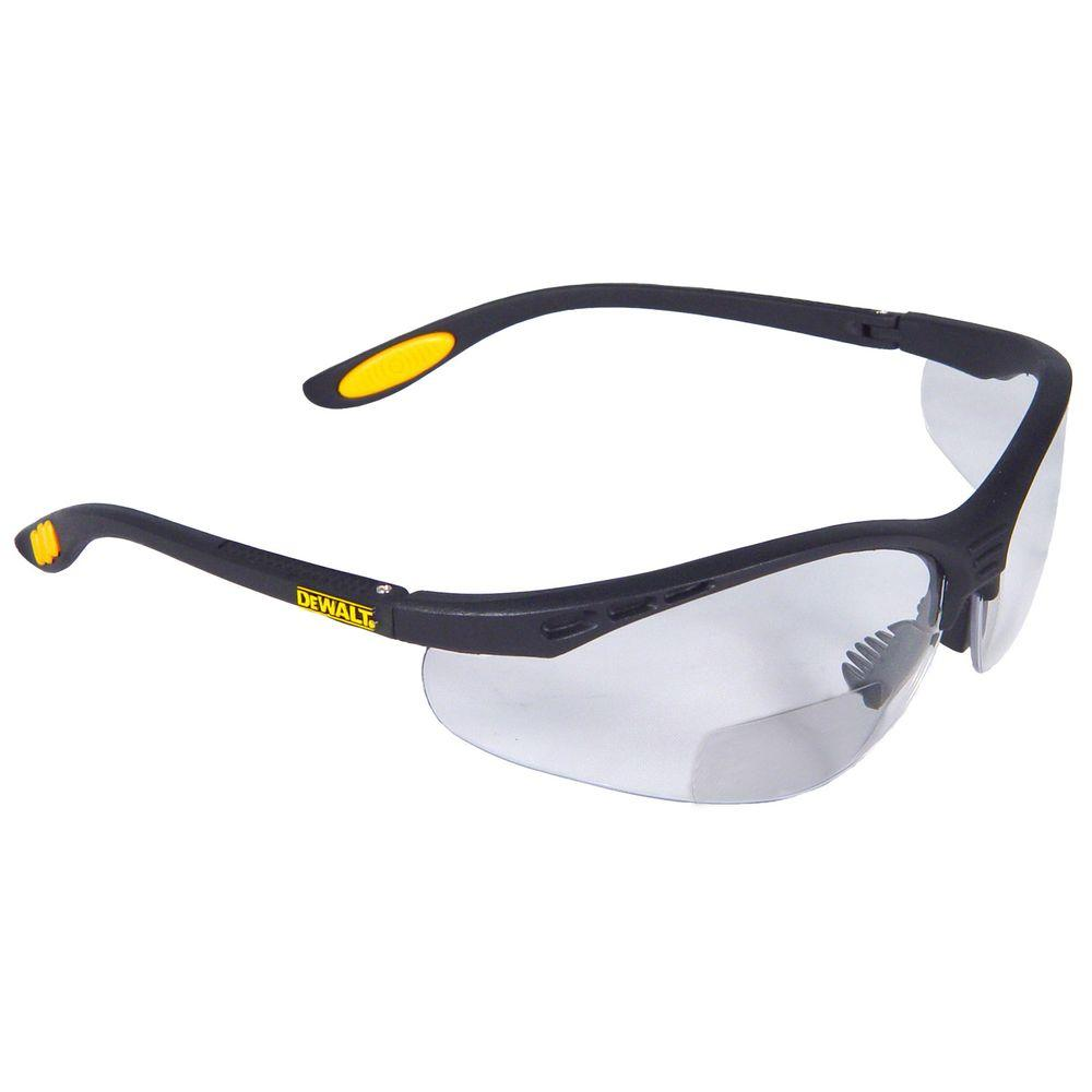 DEWALT Safety Glasses Reinforcer RX - 1.0 Diopter with Clear Lens ...