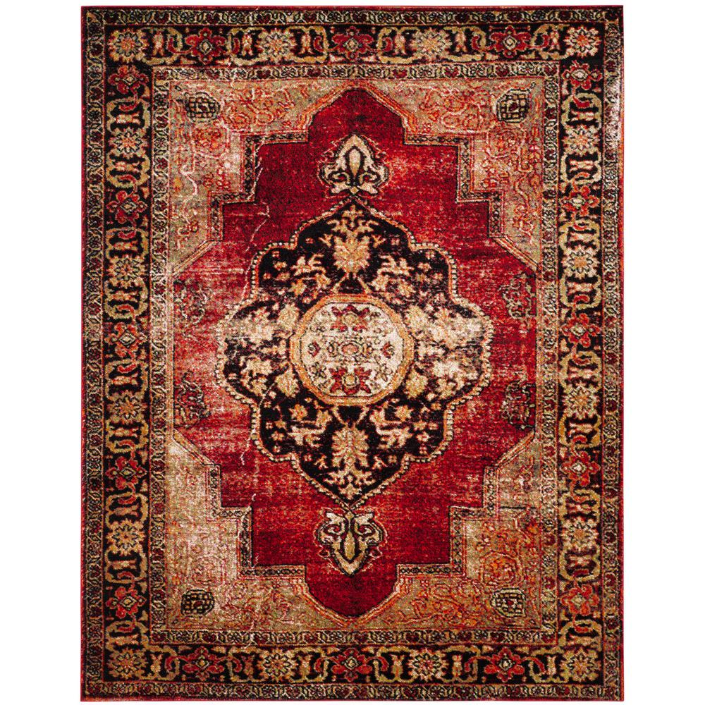 Safavieh Vintage Hamadan Red/Multi 9 Ft. X 12 Ft. Area Rug