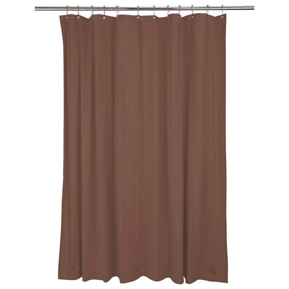 Bath Bliss Heavy Grommet Shower Liner in Chocolate