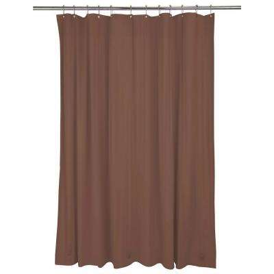 Heavy Grommet Shower Liner in Chocolate