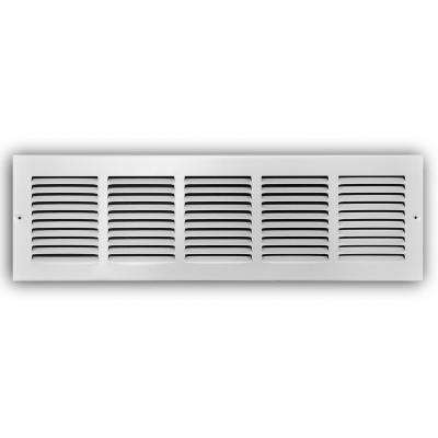 24 in. x 6 in. White Return Air Grille