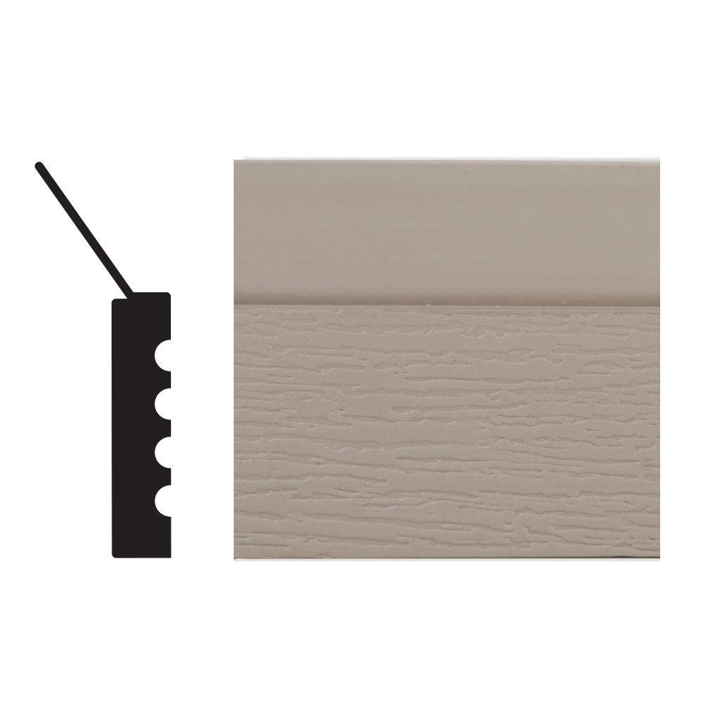 Royal Mouldings 2149 7/16 in. x 2 in. x 84 in. PVC Sandstone Garage Door Stop Moulding