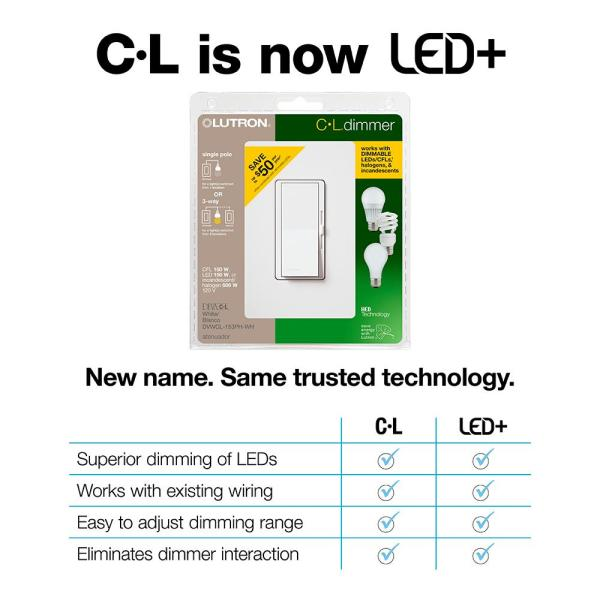 diva led dimmer switch for dimmable led halogen and incandescent bulbs  singlepole or 3way gray
