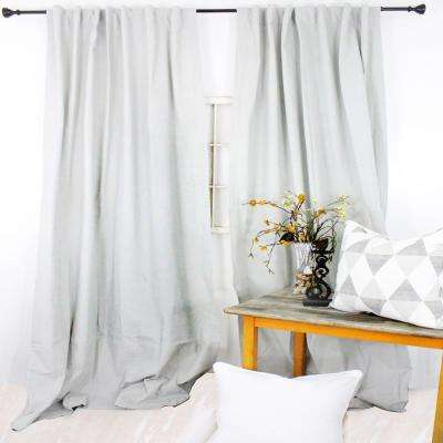 84 in. L Mist Grey Curtain Panel
