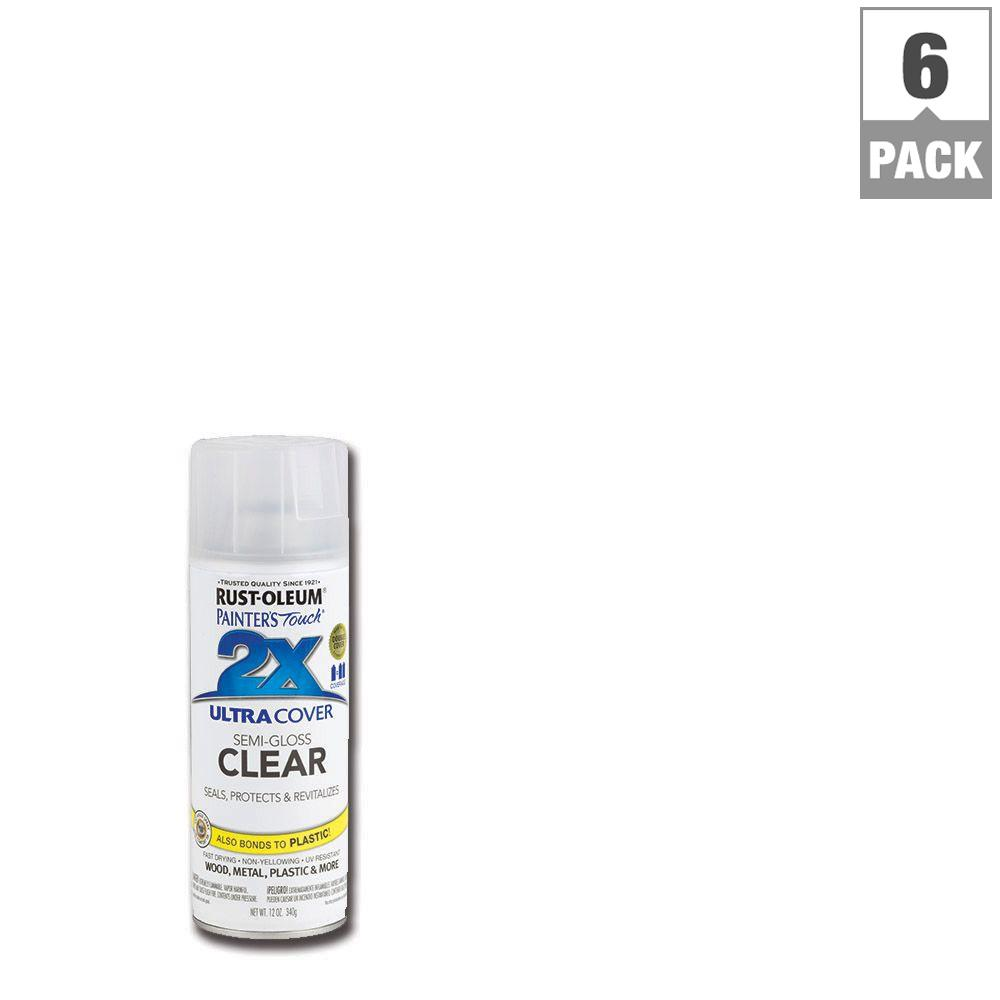12 oz. Clear Semi-Gloss General Purpose Spray Paint (6-Pack)