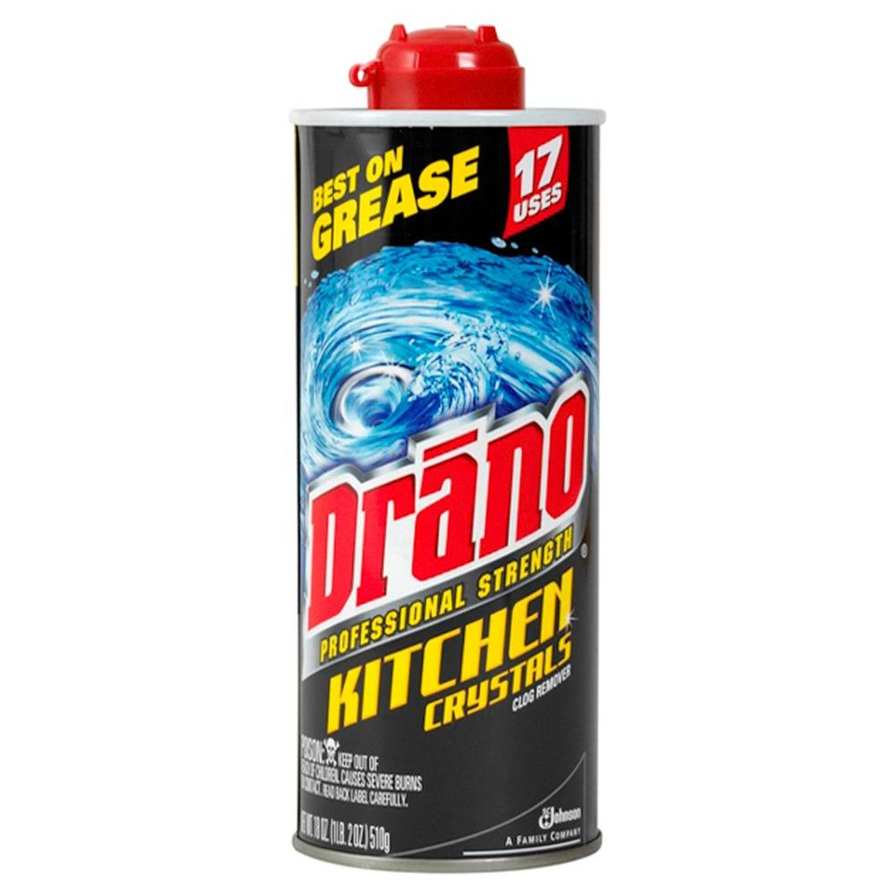Drano 18 oz. Pro Strength Kitchen Drain Opener Crystals (6-Pack ...