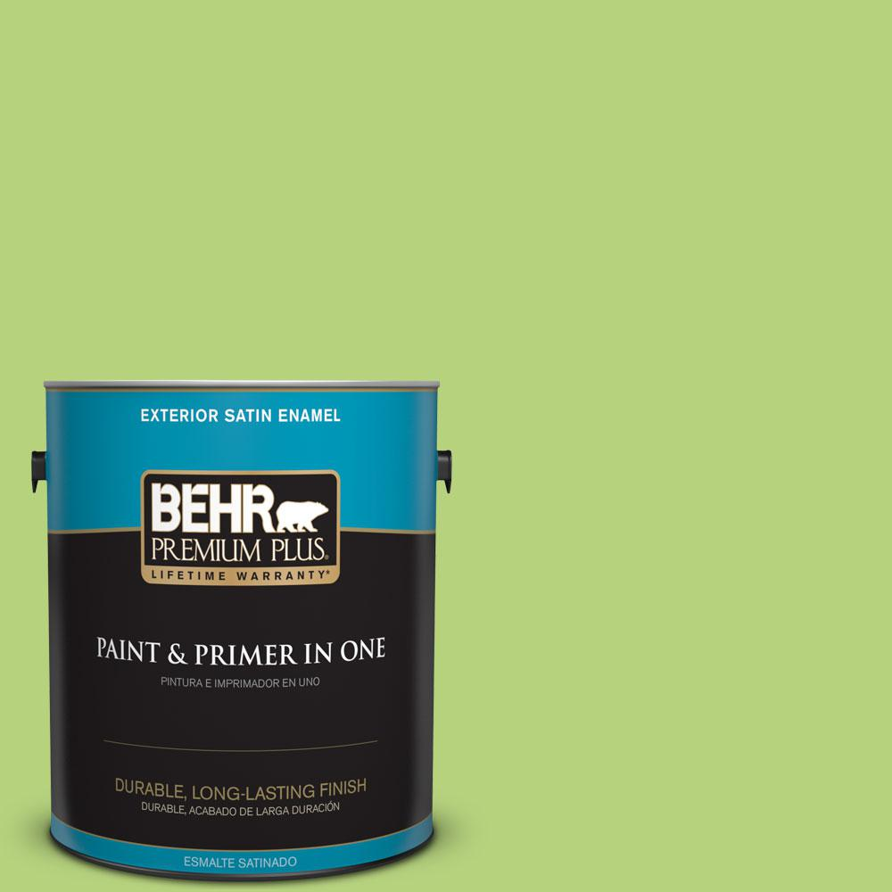 1-gal. #420B-4 Tart Apple Satin Enamel Exterior Paint