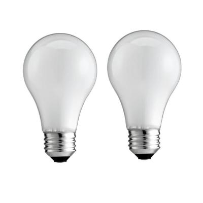 25-Watt A19 Dimmable DuraMax Long-Life Incandescent Light Bulb Soft White (2450K) (2-Pack)