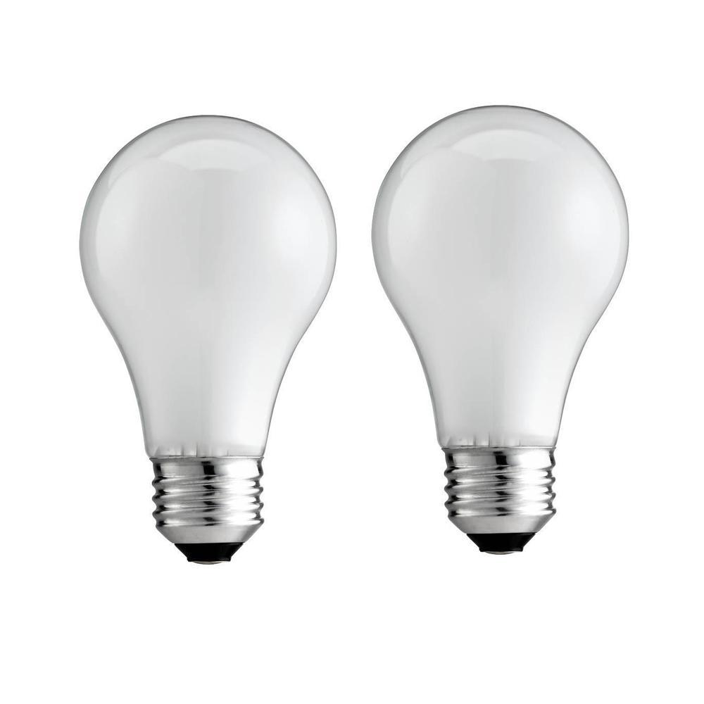 25-Watt A19 Incandescent Soft White Light Bulb (2-Pack)