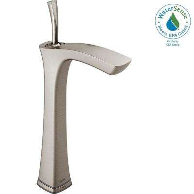 Tesla Single Hole Single-Handle Vessel Bathroom Faucet with Touch2O.xt Technology in Stainless
