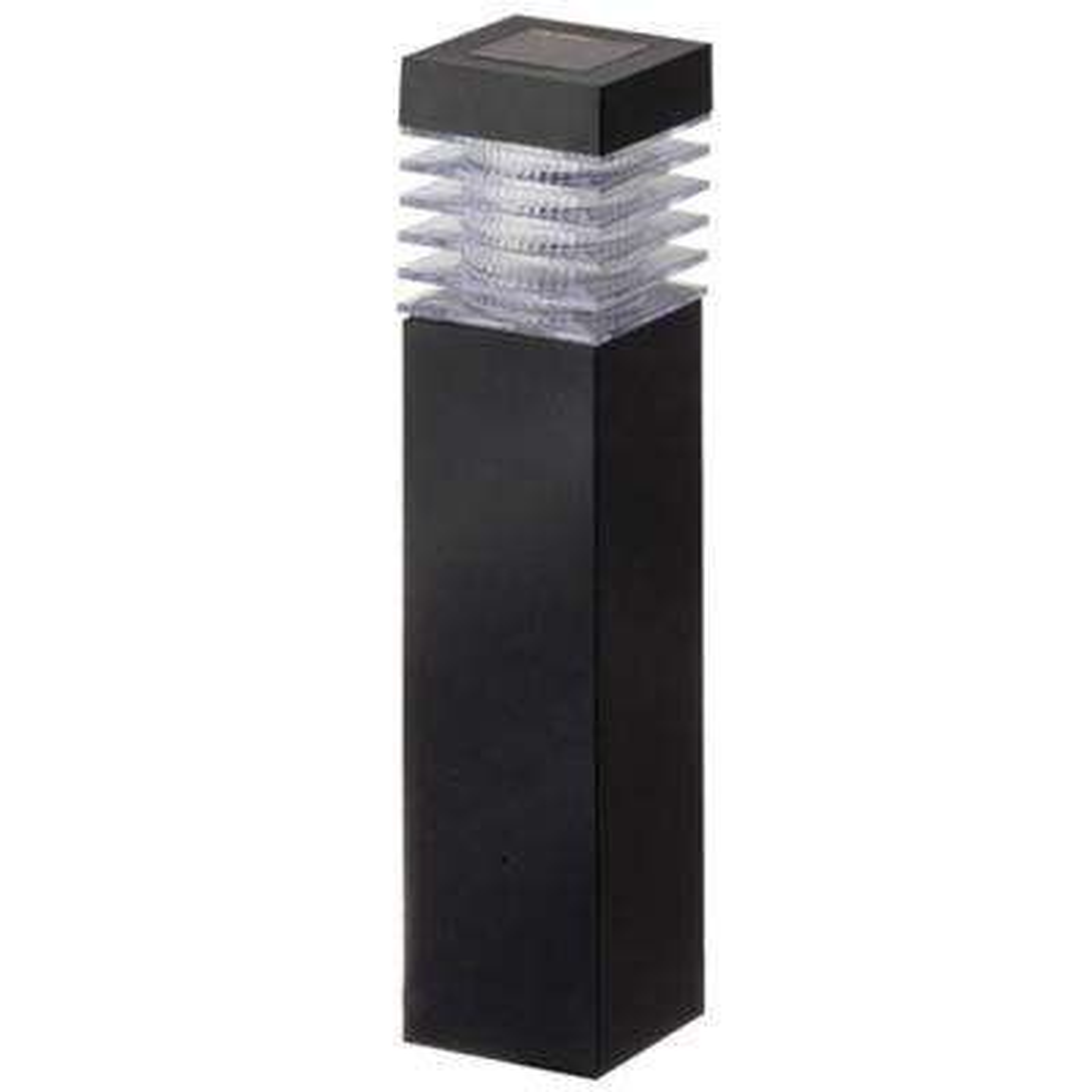 Black Plastic Square Bollard (6-Pack)