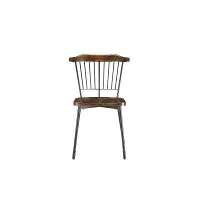 Orien Black and Brown Oak Side Chair (Set of 2)