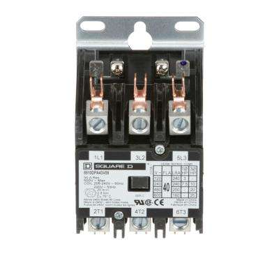 40 Amp 208/240-Volt AC 3 Pole Definite Purpose Contactor (20-Pack)