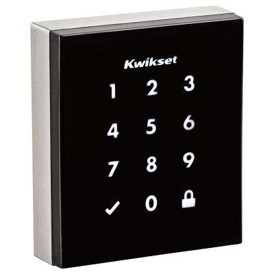 Obsidian Satin Nickel Keyless Electronic Touchscreen Deadbolt Featuring Z-Wave Technology