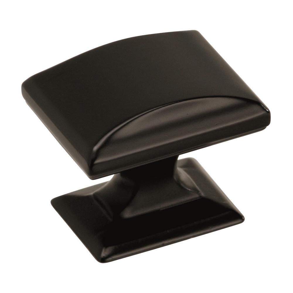 Amerock Candler 1-1/4 in. L (32 mm) Black Bronze Cabinet Knob