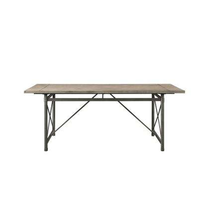 Kaelyn II Gray Oak and Sandy Gray Dining Table