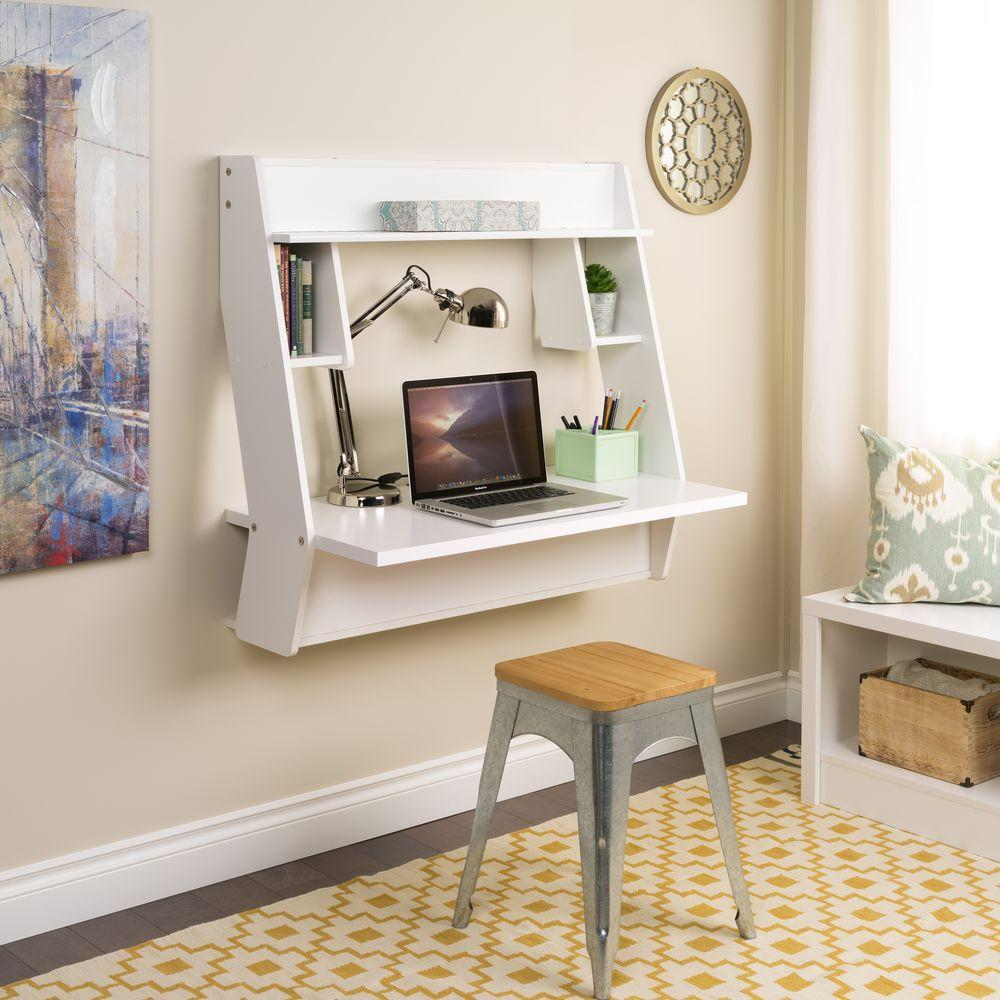 Prepac White Workstations With Storage