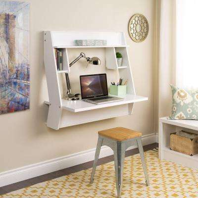 White Workstations with Storage