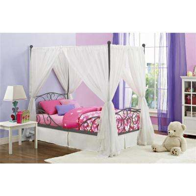 Pewter Twin Canopy Bed