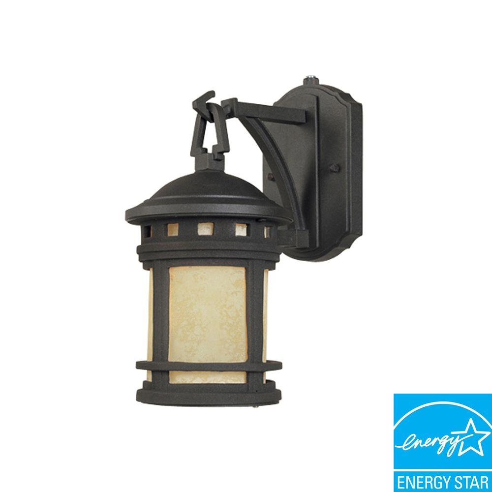 Capistrano 1 Light Oil Rubbed Bronze Outdoor Wall Mount Lantern