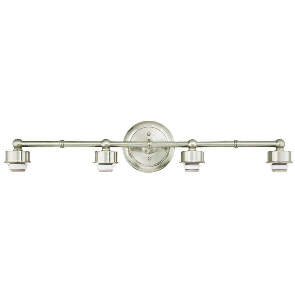 westinghouse 4-light brushed nickel wall mount bath light-6310800