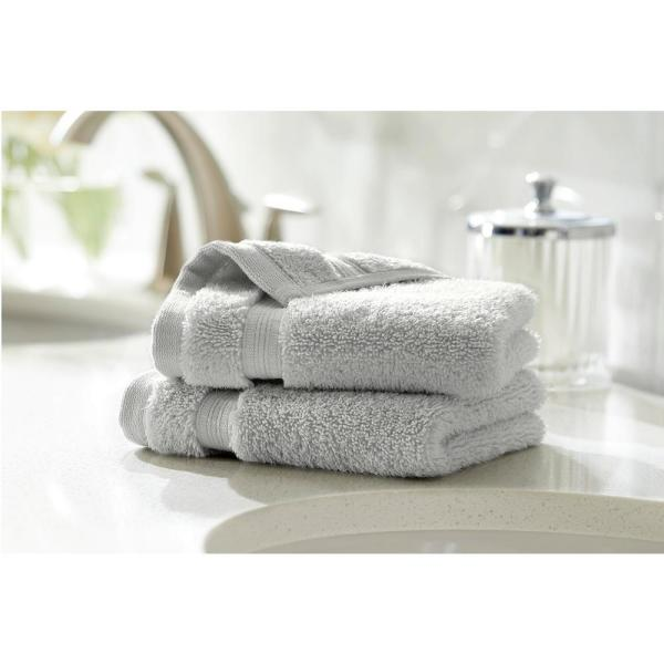 Home Decorators Collection Egyptian Cotton Wash Cloth in Shadow Gray (Set