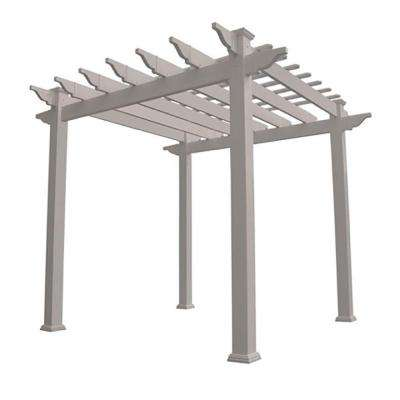 Royal 96 in. x 88 in. Tan Vinyl Pergola