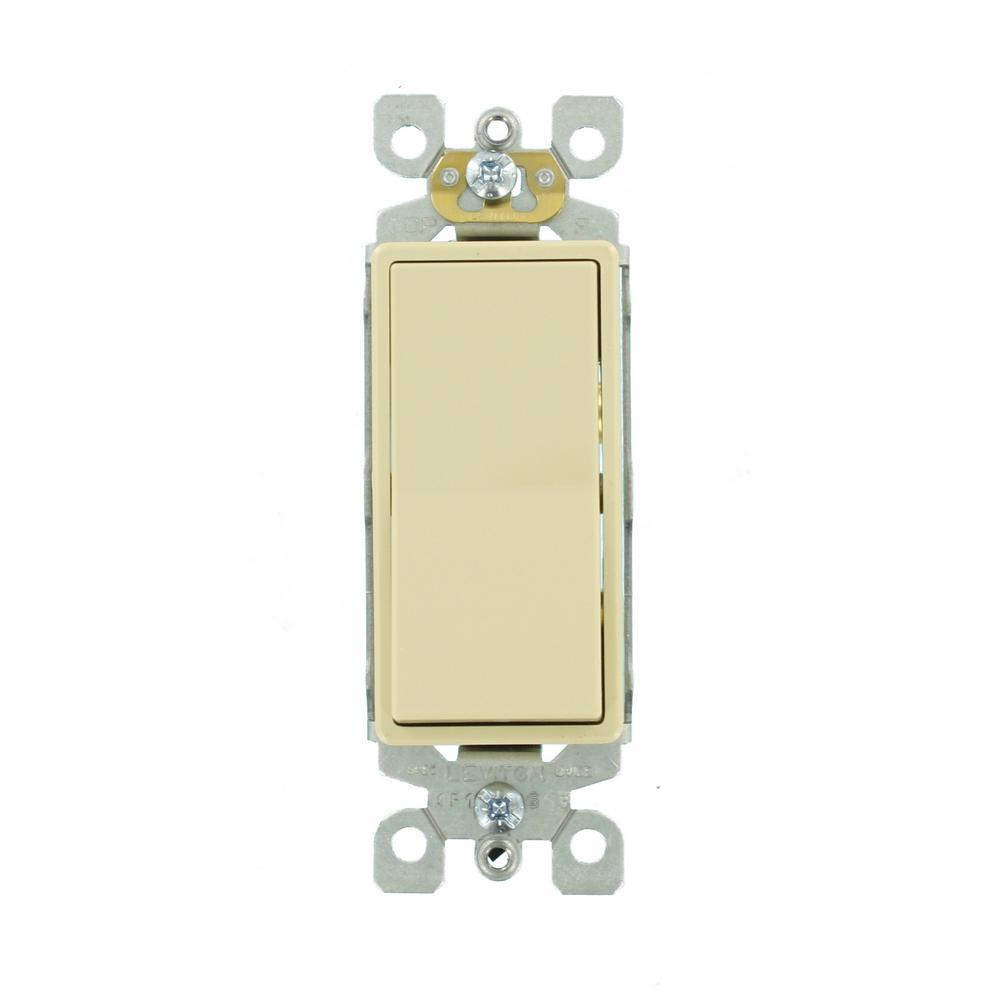 15 Amp Single-Pole AC Quiet Switch, Ivory