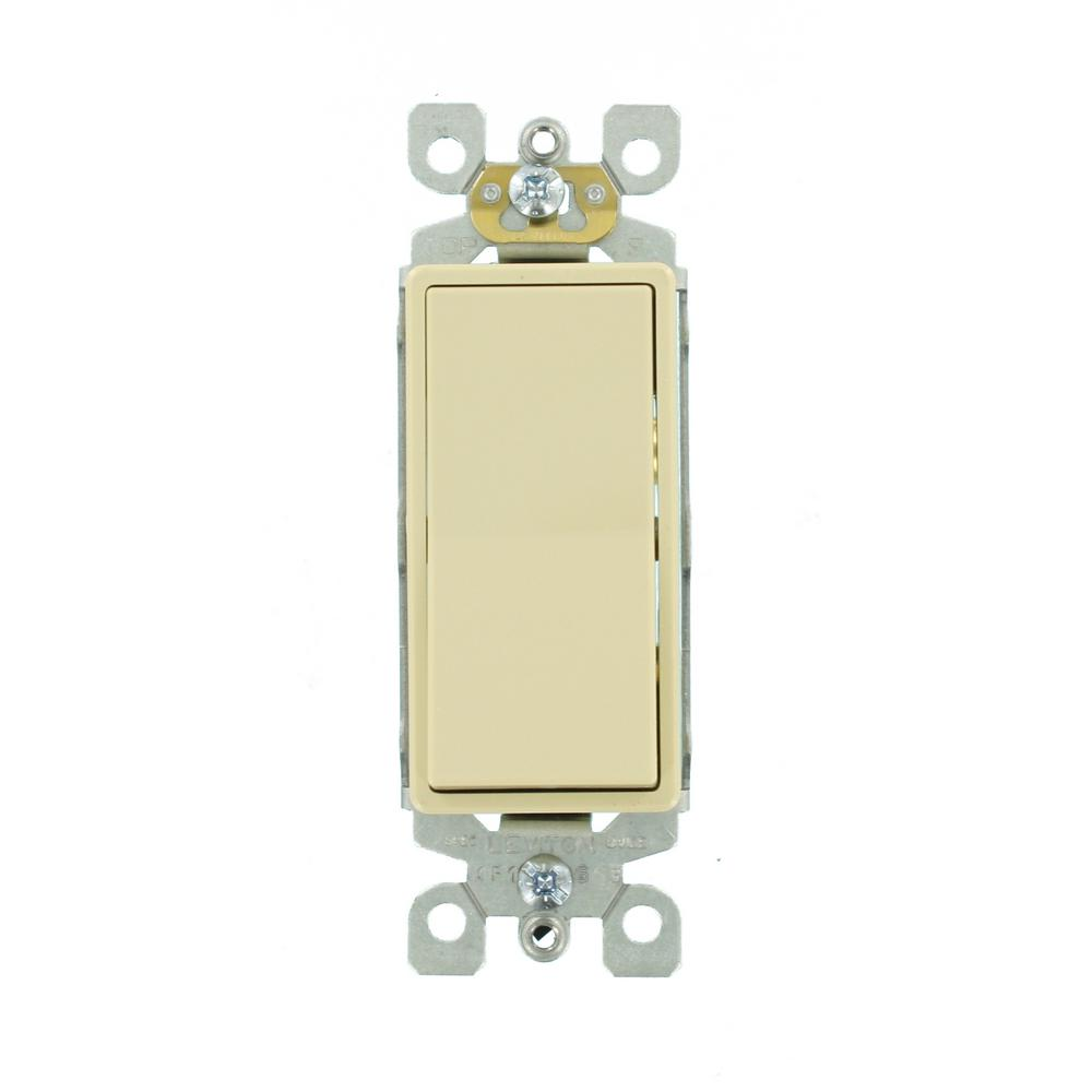 Leviton 15 Amp Single-Pole AC Quiet Switch, Ivory