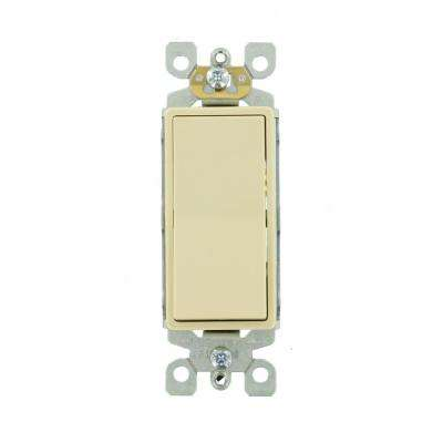 15 Amp Single-Pole AC Quiet Switch, Ivory