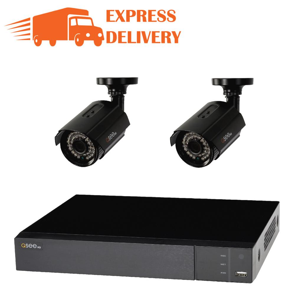 Q-See 4-Channel 1080p 1TB Surveillance System and 2 HD Bu...