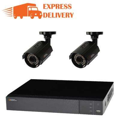 4-Channel 1080p 1TB Surveillance System and 2 HD Bullet Cameras with 100 ft. Night Vision