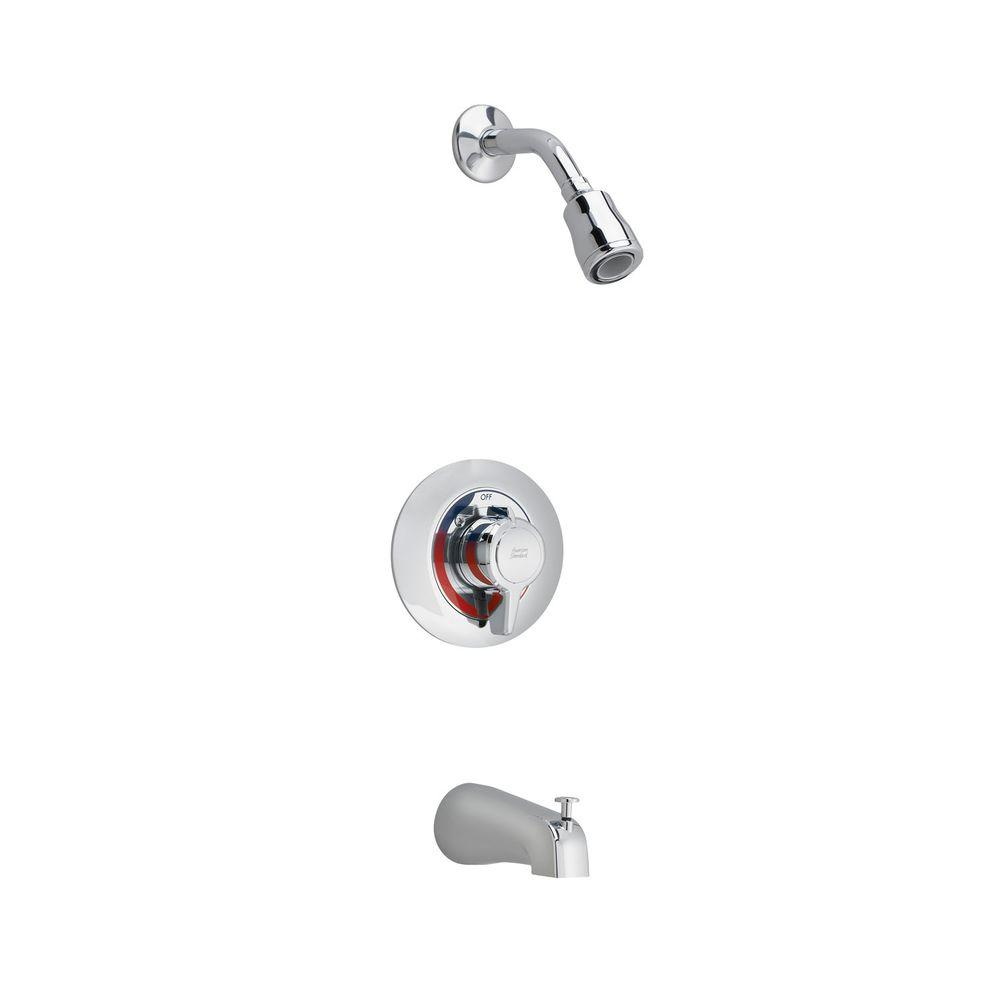 Colony 1-Handle Tub and Shower Faucet Trim Kit in Polished Chrome