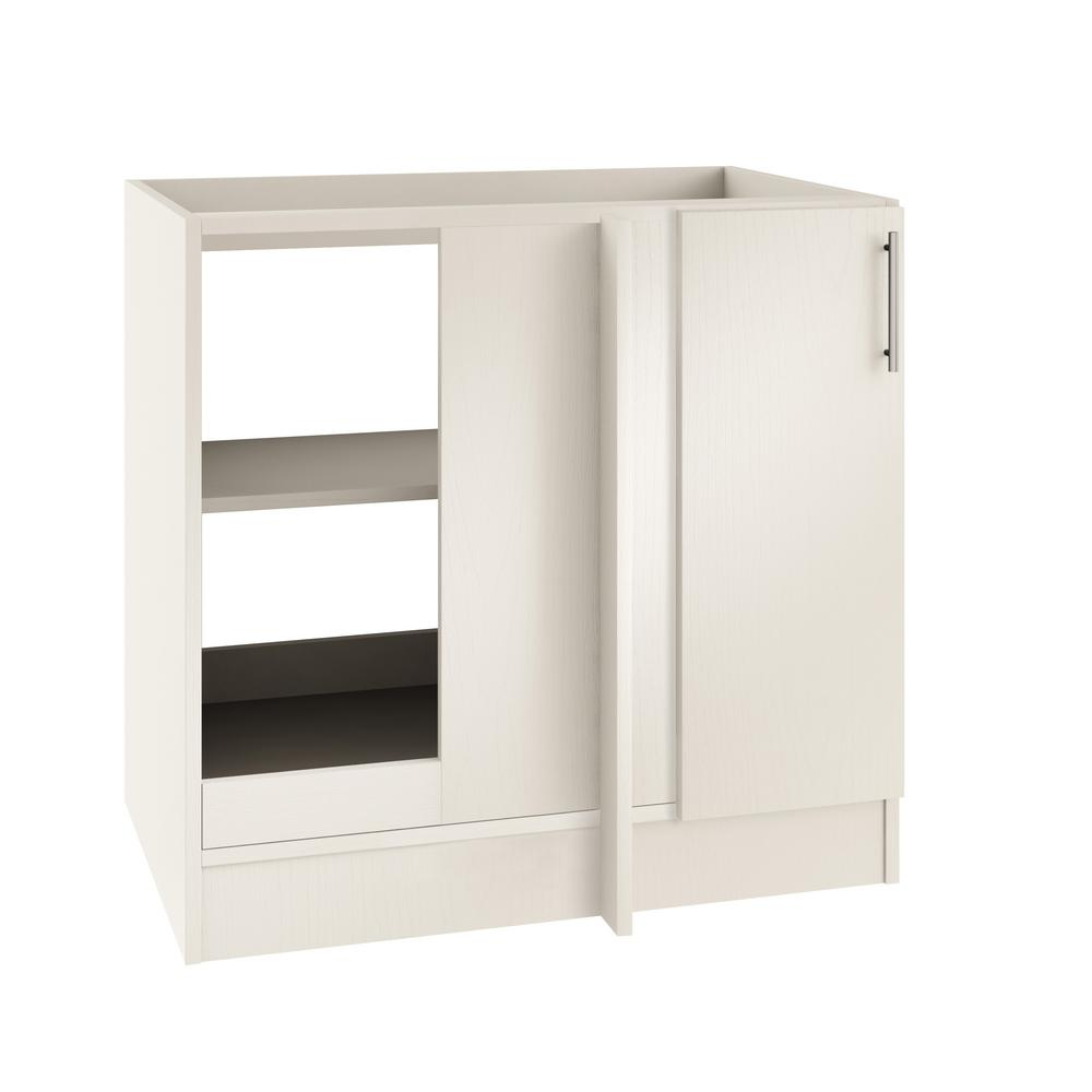 Assembled 39x34.5x24 in. Blind Outdoor Base Corner Cabinet w/Open Back and