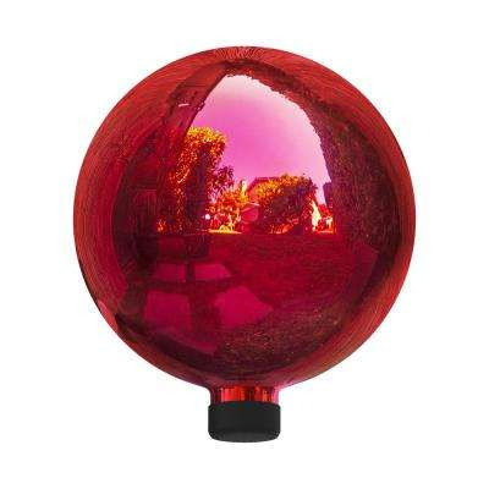 Electric Red Glass Gazing Globe
