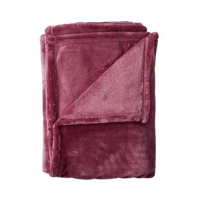 Company Plush African Violet Solid Throw Blanket