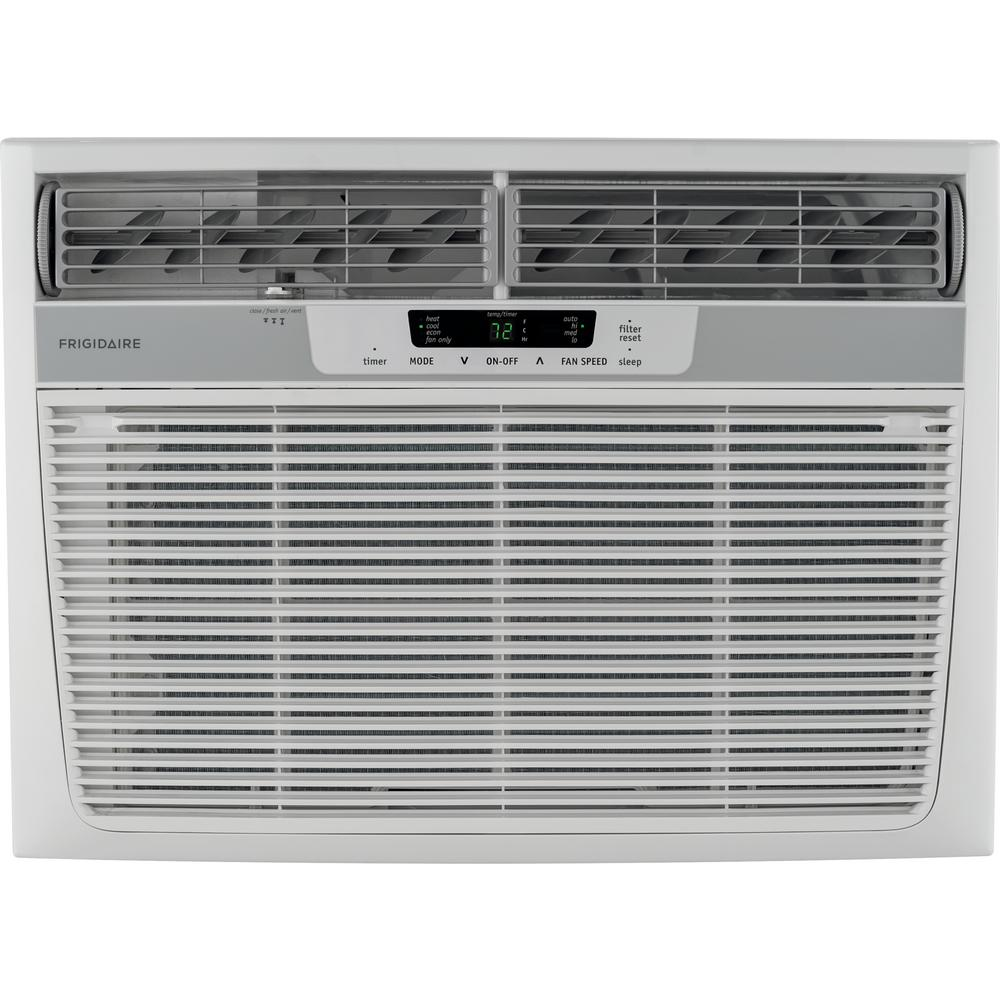 Frigidaire 18 500 Btu 230 Volt Window Air Conditioner With Heat And Remote Ffrh1822re The Home Depot