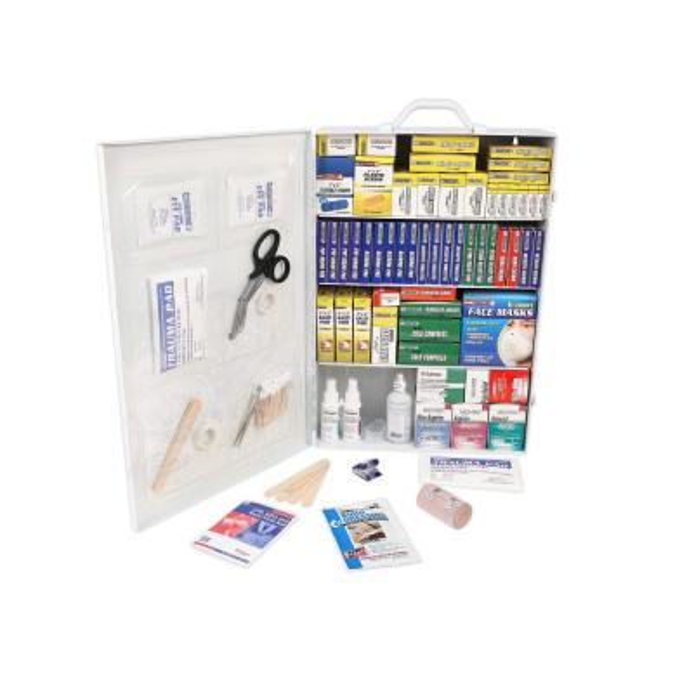 1500-Piece 4-Shelf First Aid Cabinet