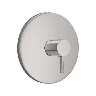 Serin 1-Handle Central Thermostat Valve Trim Kit in Brushed Nickel (Valve Not Included)