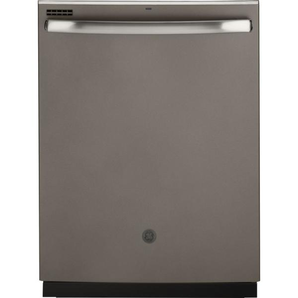 24 in. Top Control Dishwasher in Slate with Plastic Tall Tub and Steam Prewash, Fingerprint Resistant, 50 dBA