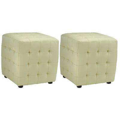 Jane Off White Accent Ottoman (Set of 2)