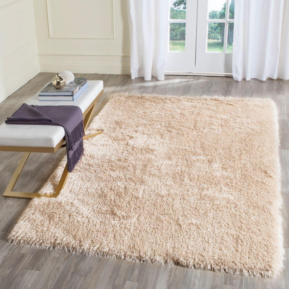Good Safavieh Memory Foam Plush Shag Taupe 5 Ft. X 8 Ft. Area Rug