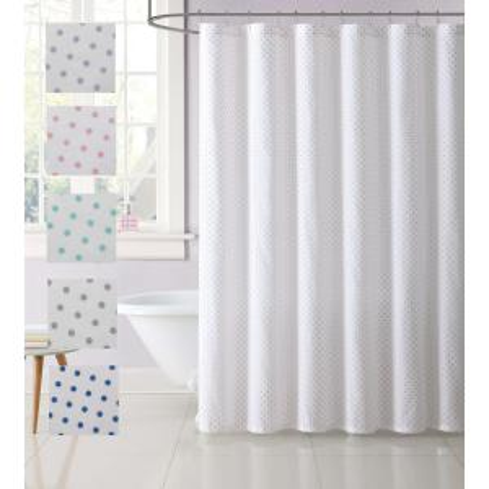Internet 306002260 Laura Hart Kids 72 In Gray Dot Shower Curtain